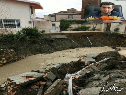 طوفان و سیل به بخش کشاورزی و مسکونی بندرگز خسارت وارد کرد