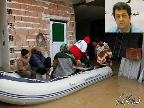 چهار قایق نجات از بندرگز به شهرهای سیل زده گلستان اعزام شد