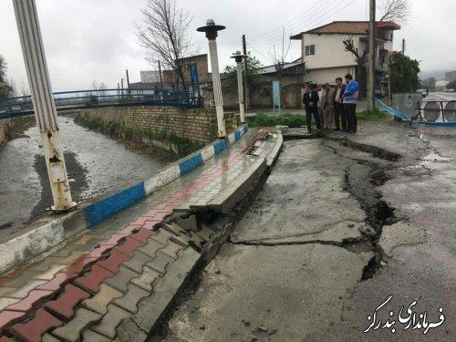 سیل به دیواره رودخانه نوکنده خسارت وارد کرد
