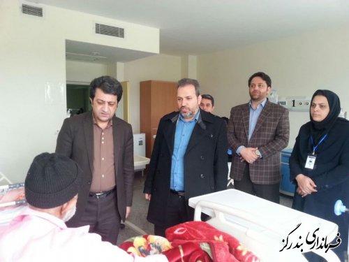 عیادت فرماندار بندرگز از بیماران بیمارستان شهداء