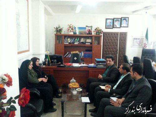 دیدار مدیرکل کانون پرورش فکری کودکان و نوجوانان گلستان با فرماندار بندرگز