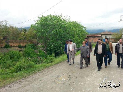 بازدید فرماندار بندرگز از روستای گل افرا