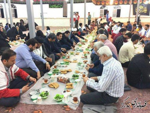 ضیافت افطاری در شهرستان بندرگز برگزار شد