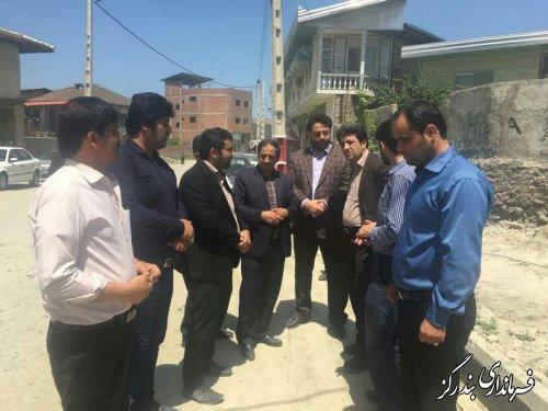 بازدید فرماندار بندرگز از عملیات اجرایی فاز سوم طرح هادی لیوان شرقی