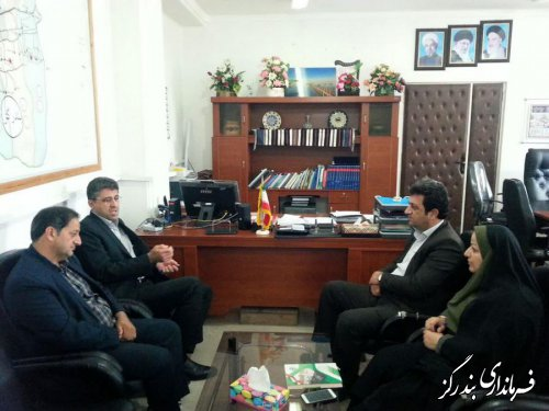 نشست فرماندار بندرگز با نماینده مردم غرب گلستان در مجلس شورای اسلامی