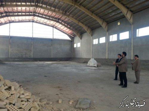 فرماندار بندرگز بر تکمیل سالن ورزشی پسران تاکید کرد