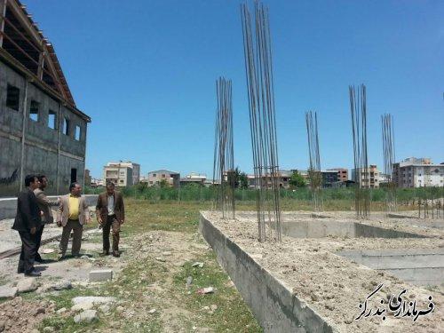 بازدید فرماندار بندرگز از روند عملیات اجرایی پروژه ساختمان اداری بهزیستی
