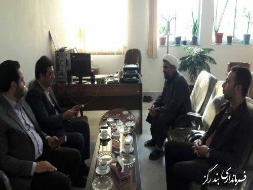 بازدید سرزده فرماندار بندرگز از اداره تبلیغات اسلامی