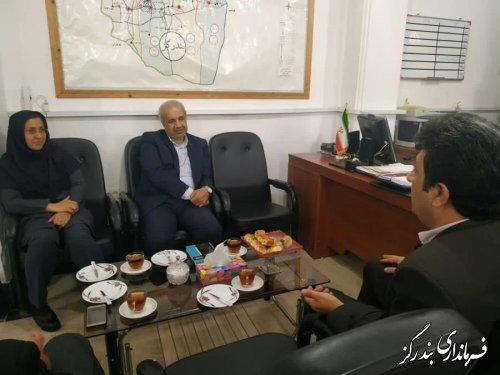 دیدار مدیرکل انتقال خون گلستان با فرماندار بندرگز