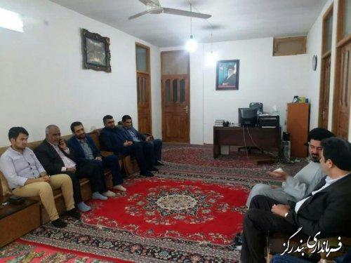 دیدار فرماندار و مسوولان اجرایی بندرگز با امام جمعه