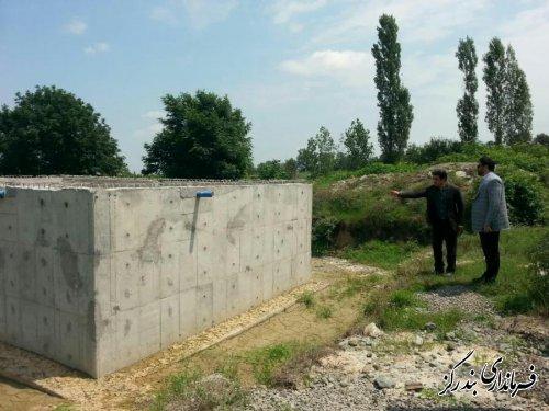بازدید فرماندار بندرگز از عملیات اجرایی ساخت مخزن ذخیره آب استون آباد