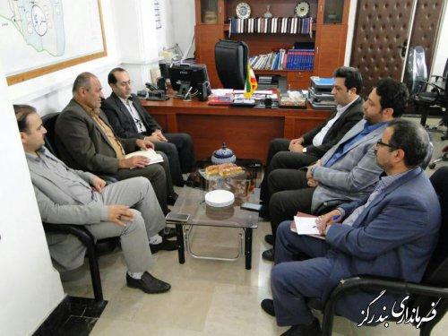 دیدار مدیرکل نوسازی، توسعه و تجهیز مدارس گلستان با فرماندار بندرگز