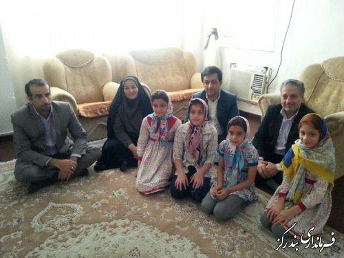دیدار معاون سیاسی ، امنیتی استاندار گلستان با چهار قلوی بندرگزی