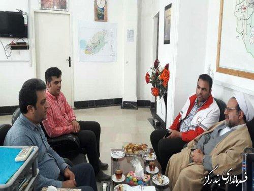 دیدار مسئول دفتر نمایندگی ولی فقیه در جمعیت هلال احمر گلستان با فرماندار بندرگز