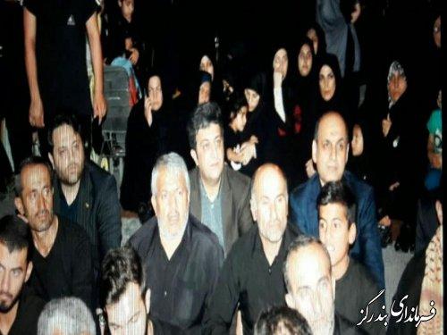 حضور استاندار گلستان در مراسم عزاداری حضرت اباعبدالله الحسین (ع) در بندرگز
