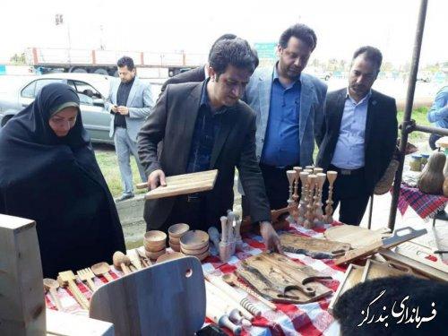 نمایشگاه صنایع دستی در بندرگز برپا شد