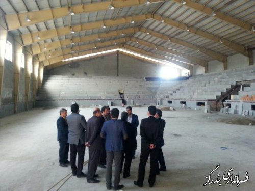 بازدید معاون عمرانی استاندار گلستان از سالن ورزشی در حال ساخت صدرا بندرگز