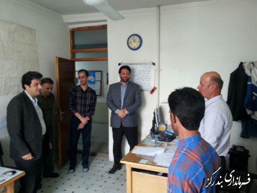 بازدید سرزده فرماندار بندرگز از اداره آب و فاضلاب روستایی