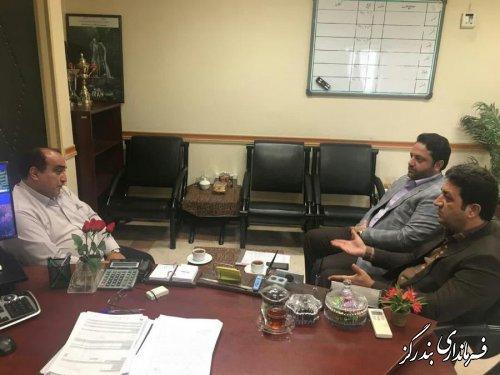 فرماندار بندرگز با مدیرکل بنیاد مسکن انقلاب اسلامی گلستان دیدار کرد