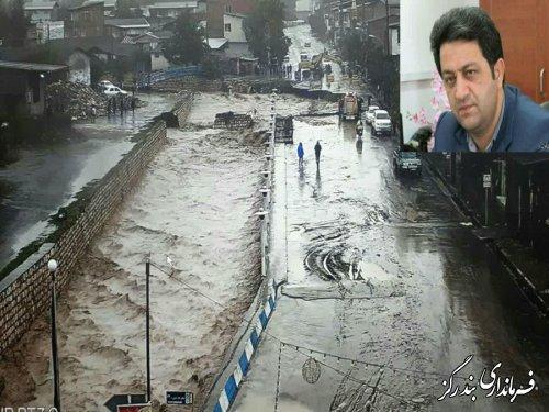 بارندگی مدارس شهر نوکنده را تعطیل کرد