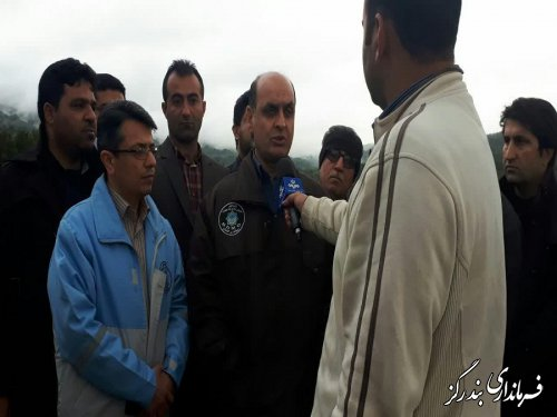 استاندار گلستان از مناطق سیلزده نوکنده بازدید کرد