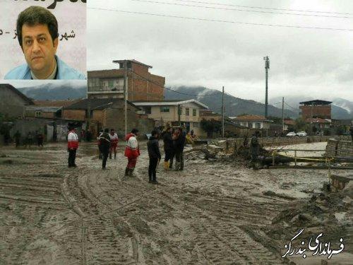 70 واحد مسکونی در نوکنده دچار آبگرفتگی شد