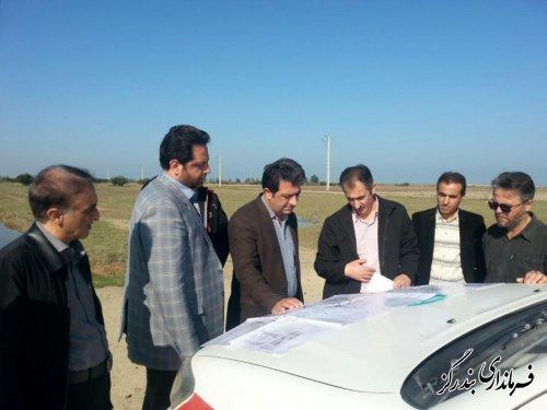 بازدید فرماندار بندرگز از روند اجرای عملیات زهکشی اراضی ساحلی