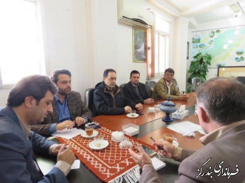 دیدار مدیرکل راه و شهرسازی گلستان با فرماندار بندرگز