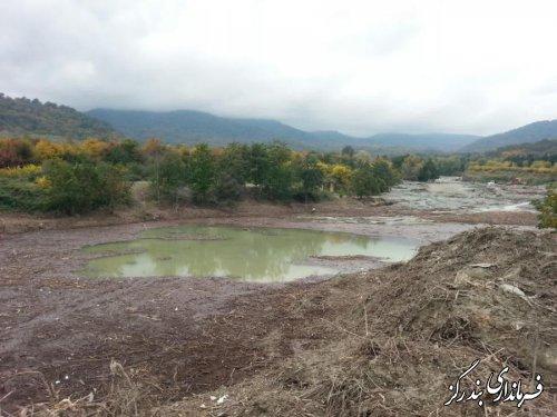 بازدید مدیرکل منابع طبیعی گلستان و معاون فرماندار از سازه کنترل سیلاب نوکنده
