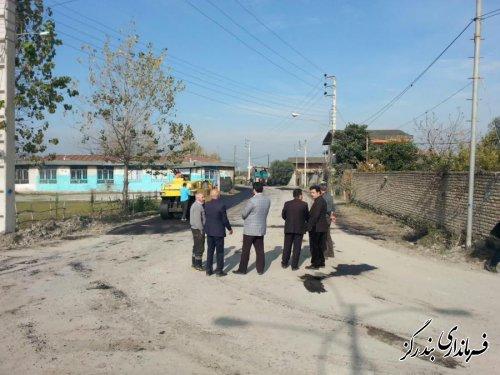 فرماندار بندرگز از اجرای آسفالت روستایی با اعتبار ۶۰۰ میلیون تومان در شهرستان خبر داد