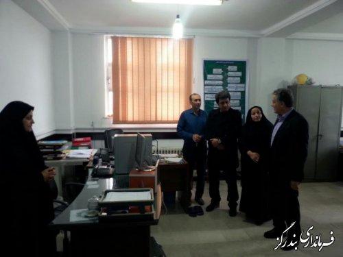 بازدید معاون سیاسی ، امنیتی استاندار گلستان از ستاد انتخابات بندرگز