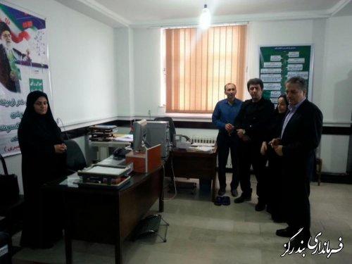 بازدید معاون سیاسی، امنیتی استاندار گلستان از ستاد انتخابات بندرگز