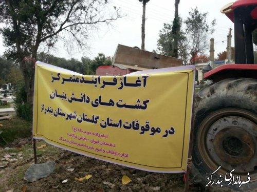 آغاز کشت دانش بنیان در اراضی موقوفه گلستان