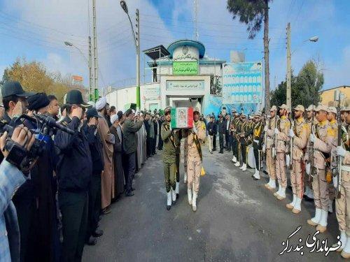 پیکر مرزبان شهید بندرگزی تشییع شد