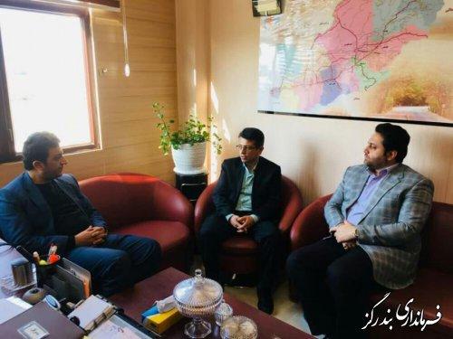 دیدار فرماندار بندرگز با مدیرکل مدیریت بحران گلستان
