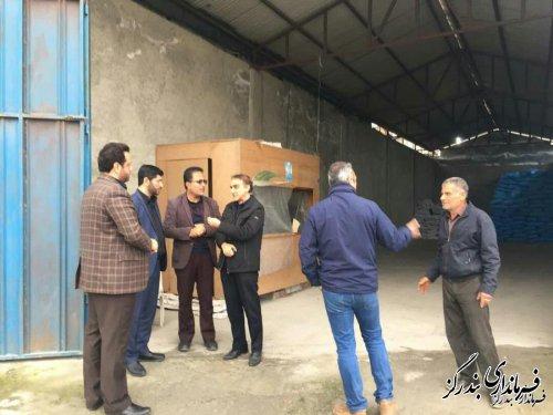 بازدید مسوولان بندرگز از مراکز فروش بذرهای کشاورزی