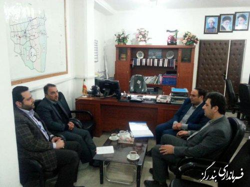 سرپرست شرکت آب و فاضلاب شهری گلستان با فرماندار بندرگز دیدار کرد