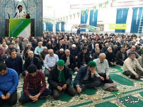 حضور فرماندار و مسوولان بندرگز در آیین عبادی سیاسی نمازجمعه