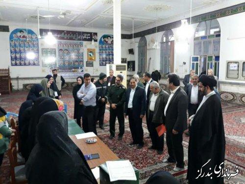 بازدید امام جمعه ، فرماندار و اعضای شورای تامین بندرگز از شعب اخذ رای
