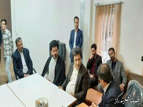 بازدید امام جمعه و فرماندار بندرگز از ستاد انتخابات نوکنده