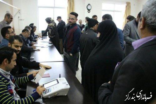 شور و نشاط مردم شهرستان بندرگز و حضور گسترده در شعب اخذ رای انتخابات