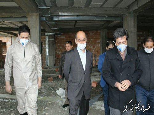 بازدید استاندار گلستان از روند احداث مرکز دیالیز بندرگز