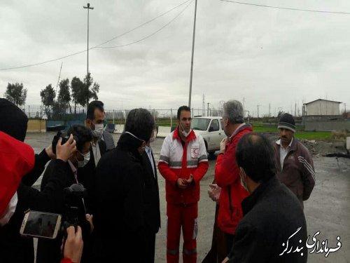 بازدید استاندار گلستان از پایگاه غربالگری و تب سنجی در خروجی غرب گلستان