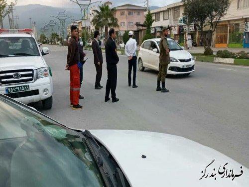 فرماندار از مبادی ورودی و خروجی شهر بندرگز بازدید کرد