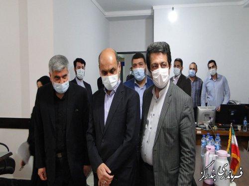 بازدید استاندار گلستان از ستاد انتخابات شهرستان بندرگز