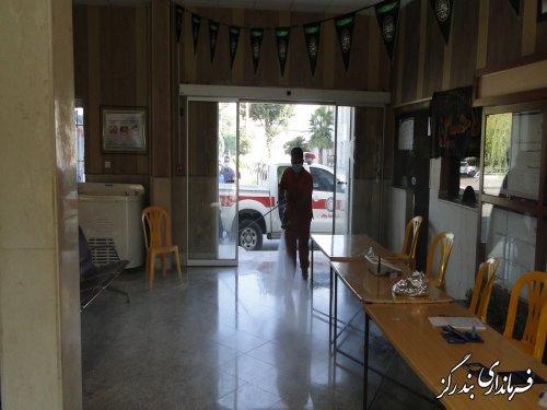 ضدعفونی شعب اخذ رای انتخابات در بندرگز