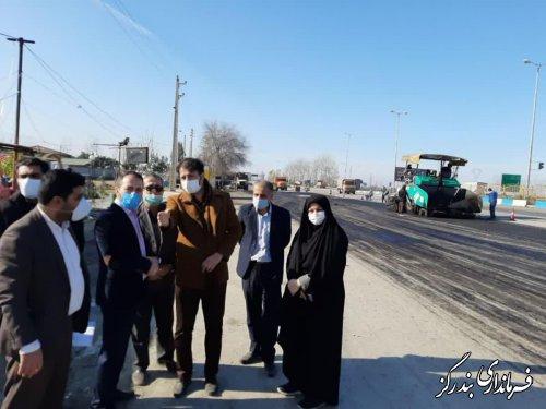عملیات بهسازی و آسفالت مسیر ورودی شهر نوکنده به اتمام رسید