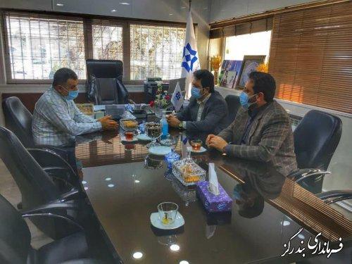 دیدار فرماندار بندرگز با مدیرکل غله و خدمات بازرگانی گلستان