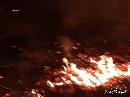 آتش سوزی مجدد مناطق جنگلی بخش نوکنده مهار شد
