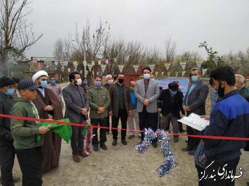 پل جاده بین مزارع در روستای گل افرا افتتاح شد